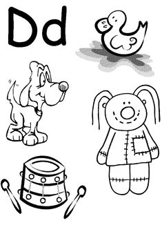 Letter D Printable Coloring Pages For Kids