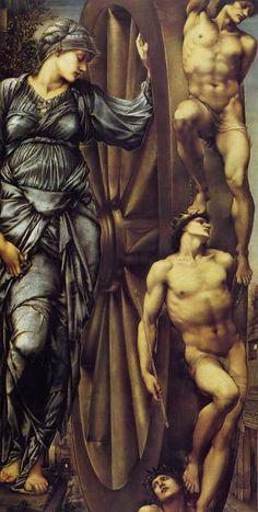 La ruota della fortuna, di Edward Burne-Jones