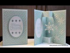No.336 - Snowflake Spinner Card - UK Stampin' Up! - YouTube