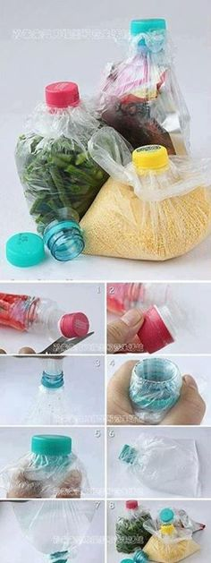 tips in life ideas ~ tips in life . tips in life lifehacks . tips in life ideas . life tips . healthy life tips . tips and tricks for life . lifestyle changes to lose weight tips . work life balance tips Plastic Bottles, Plastic Bags, Plastic Bag Storage, Plastic Spoons, Craft Videos, Food Storage, Smart Storage, Extra Storage, Cleaning Hacks