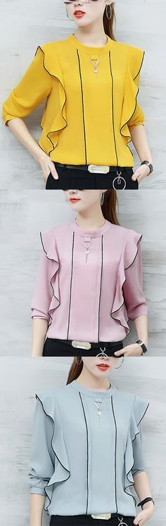 Women's Casual/Daily Simple Street chic Fall Blouse