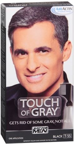 JUST FOR MEN Touch of Gray Hair Treatment T-55 Black 1 Each (Pack of 12) -- Check out the image by visiting the link.