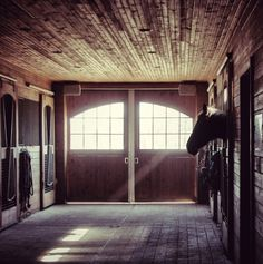A quiet moment in the barn at Fair Winds.