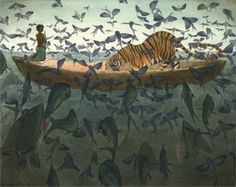 Andrea Offermann -  Illustrations for the 'Life of Pi' are great!