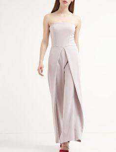 Miss Selfridge Kombinezon gorsetowy szerokie spodnie grey