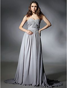A-line Sweetheart Sweep/Brush Train Chiffon Evening/Prom Dress inspired by Selena Gomez at Emmy Awards. Get amazing discounts up to 70% Off at Light in the Box with Coupon and Promo Codes.