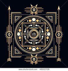 Sacred By Design Sacred Symbols Design Abstract Geometric Illustration Gold And White Elements On Dark Background Sacred Geometry Designs And Meanings