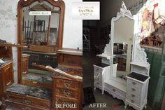 O comoda frumoasa, de pe vremea bunicii, se poate transforma intr-o adevarata bijuterie a casei dacă este recondiționată și vopsita in ton cu celelalte piese de mobilier... La #SaveMob ne străduim sa oferim o noua viața obiectelor de mobilier vintage. #comodavintage #restauraremobilier Vanity, Restaurant, Mai, Furniture, Vintage, Home Decor, Atelier, Dressing Tables, Powder Room