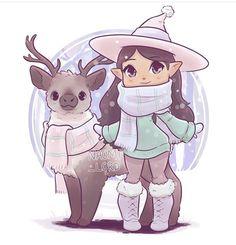 ❤️✨ As part of my chibi founders series! Only Helga left! Cute Animal Drawings Kawaii, Cute Kawaii Animals, Kawaii Art, Cute Drawings, Chibi Girl Drawings, Cartoon Drawings, Dibujos Anime Chibi, Witch Drawing, Desenhos Love