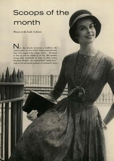 Mademoiselle, 1958  #vintage #50s #fashion