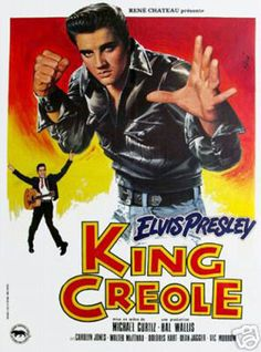 King Creole Elvis Presley Vintage Movie Poster
