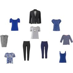 """Blue and grey capsule from People Tree"" by sue-walker on Polyvore"