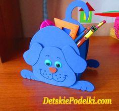 Подставка для карандашей своими руками » Детские поделки. Детский сайт с поделками из бумаги и фетра.