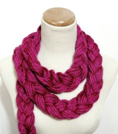 Sale Berrylicious Braided Scarf by ArlenesBoutique on Etsy, $18.00