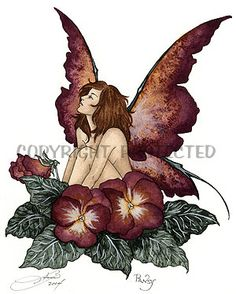 amy+brown+fairies | Pansy - New Amy Brown Fairy Print