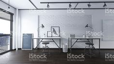 Office Industrial Interior 3 D Render Stock Illustration 364717601 – Office İnspiration Industrial Office Design, Modern Office Design, Industrial Interiors, Office Interior Design, Modern Industrial, Office Interiors, Green Home Decor, Workspace Design, Interior Photo