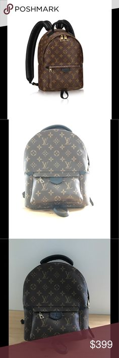 09d6c943bb95 LOUIS VUITTON Monogram Palm Springs Backpack PM PM size LV backpack with  real leather and canvas! Price reflects auth enticty! Comes with dust !