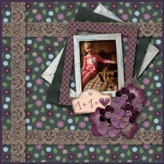 """This Layout was made with a BEAUTIFUL kit """"My Love"""" check it out on my blog!"""