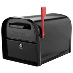 Architectural Mailboxes Oasis 360 Locking Parcel Mailbox with 2-Access Doors Black