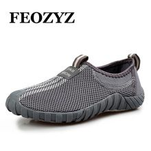 FEOZYZ 2017 Summer Women Mens Hiking Shoes Breathable Outdoor Shoes Anti-Slip Fishing Shoes Trekking Shoes Sneakers Size 35-44