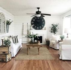 30+ Rustic Farmhouse Living Room Furniture Decor Ideas