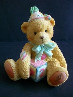 Two Sweet Two Bear Age 2 Cherished Teddies Figurine - Free Shipping