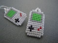 Gameboy Classic Pixel Earrings by Pixelosis