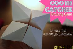 Dilly-Dali Art: Cootie Catcher Drawing Game