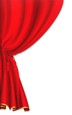 Red Curtain Clipart Image