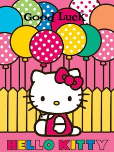Bright balloons layer over the deep pink background of the Trends International Hello Kitty Mimmy Wall Poster adding vibrant fun. Sanrio Hello Kitty, Hello Kitty Art, Little Twin Stars, Images Hello Kitty, Hello Kiti, Tsumtsum, Hello Kitty Birthday, Hello Kitty Wallpaper, Poster Prints