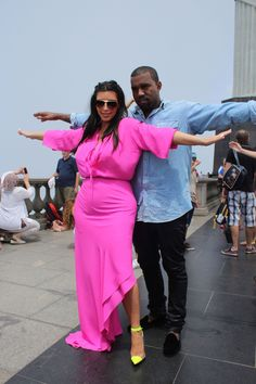 Kim Kardashian and Kanye West visited the Christ the Redeemer statue in Rio de Janerio on Feb. 9.
