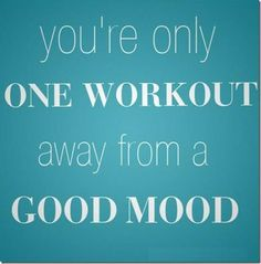 working out definitely gives me a good attitude adjustment!