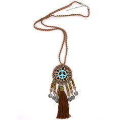 Find More Pendant Necklaces Information about New Womens accessories Bohemia Ethnic long fringe cotton tassle pendants Necklace handmade peace symbol Pendant Necklace,High Quality Pendant Necklaces from keepnice jewellery Store on Aliexpress.com