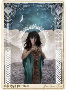 The High Priestess from the Moonchild Tarot