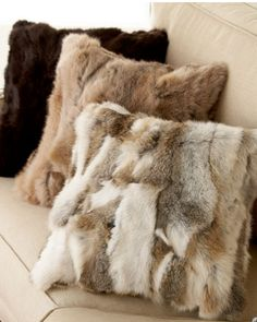 Patchwork Rabbit Fur Cushion Cover Pillows, View pillows, wonder fur Product Details from Tongxiang Chengxing Fur Fashion Co. Fur Pillow, Bed Pillows, Fur Throw Pillows, Cushion Pillow, Fur Blanket, Vintage Fur, Vintage Ideas, Fur Fashion, Accent Pillows