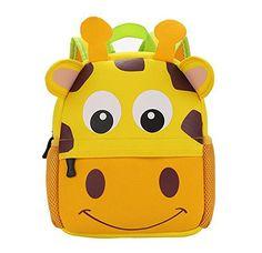 Littel Kid Animal Backpack Baby Boys Girls Toddler Pre School Backpack Children Backpacks Giraffe * Visit the image link more details.-It is an affiliate link to Amazon. #BabyBottles