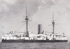 """HMS Agamemnon (circa 1885). A Royal Navy battleship of the Ajax class. The last to have muzzle loaded main armament (12.5"""" calibre). Although this ship was able to squeeze down the Suez Canal she got stuck several times. Regardless, this allowed her quick access to the far east during a war scare between the British & Russian nations."""