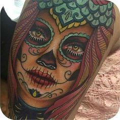Sugar skull woman's face