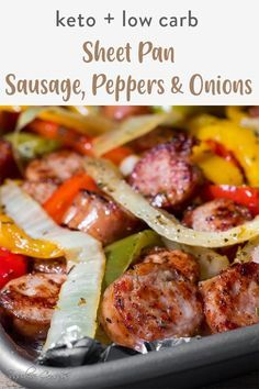 Sausage Recipes For Dinner, Smoked Sausage Recipes, Healthy Sausage Recipes, Baked Sausage, Sausage Meals, Italian Dinner Recipes, Italian Dishes, Healthy Meals, Onion Recipes