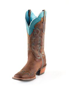 Ariat womens cowboy boots.Its called Caballera Boot - weathered brown. I dont think I could ride in these. Too nice for me. I love Ariat, the most comfortable boots I have worn