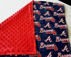 Braves Inspired Baby Blanket