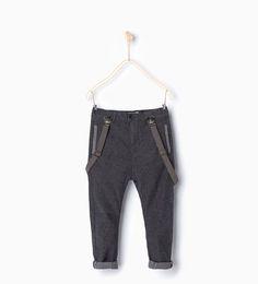 ZARA - KIDS - Herringbone trousers with braces