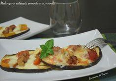 Melanzane salsiccia pomodoro e provola