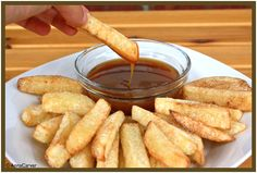 Crispy apple fries w/ cinnamon sugar and caramel dipping sauce