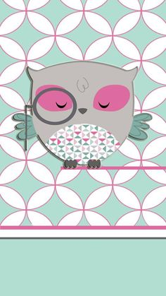 Cute Owl wallpaper x Cute Owls Wallpaper, Teal Wallpaper, Flowery Wallpaper, Wallpaper Backgrounds, Iphone Wallpapers, Phone Backgrounds, Owl Clip Art, Ipad Background, Whimsical Owl