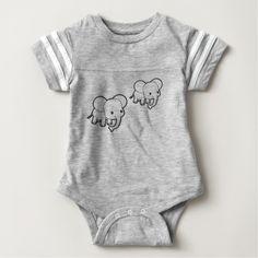 Body deportivo para bebés con elefantes