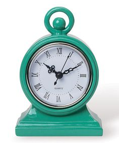 Take a look at this Green Mod Clock by Foreside on #zulily today!