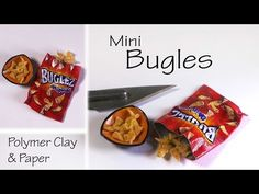 ▶ Simple Miniature Bugles - Polymer Clay & Paper Tutorial - YouTube