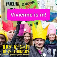 If you try vegan this January you'll be doing so alongside Vivienne Westwood!  Vivienne has pledged to try vegan in January because saving our planet is always in fashion.  Join her today: http://ift.tt/1JbZnYq  Vivienne is a passionate environmental campaigner. Find out more at climaterevolution.co.uk and follow here at @climaterevolution -- Image: Climate change march by Matthew Kirby. Reproduced under a Creative Commons Licence. 2  #Veganuary #TryVeganThisJanuary #VivienneWestwood…