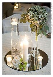 anniversary party centerpieces mirror - Google Search